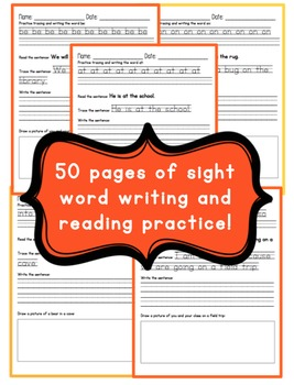 Reading and Writing Basic Sight Words Pack - Literacy Centers