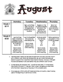 Kindergarten Reading and Writing Homework Calendar (Fast Start)