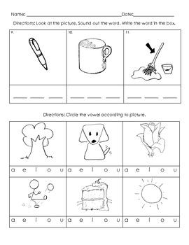 Kindergarten - Reading/Language Arts Common Core Weekly Assessment 1