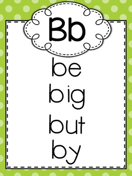 Kindergarten Ready Made Word Wall Posters - Sight Words - High Frequency Words
