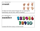 Kindergarten Ready Math Unit 1 Vocabulary