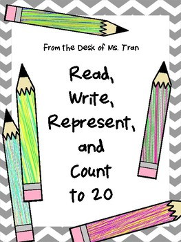 Kindergarten Ready! Read, Write, Represent, and Count Numbers 0-20 Activity Book