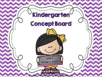 Kindergarten Concept Board Unit 1  *******  2015 Version  *******