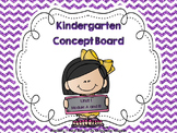Kindergarten Concept Board Unit 1  *******  2015 Version