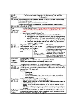 Kindergarten ReadyGEN Unit 2, Module B Performance Based Assessment