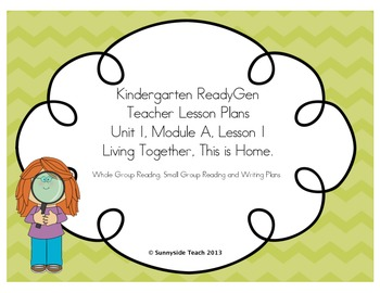 Kindergarten ReadyGen Unit 1, Module A, Lesson 1 Sample