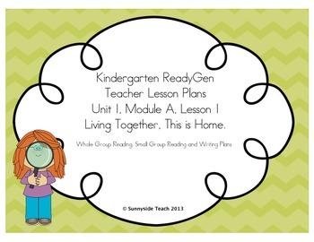 Kindergarten ReadyGen Unit 1, Module A, Lesson 1 Sample