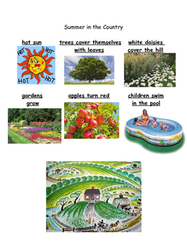 Kindergarten ReadyGen Unit 2A Writing tools for Little House-Seasons