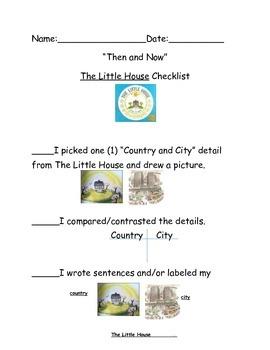 Kindergarten ReadyGen Unit 2A performance task writing checklist