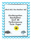 Kindergarten ReadyGen Unit 3B Task Paper