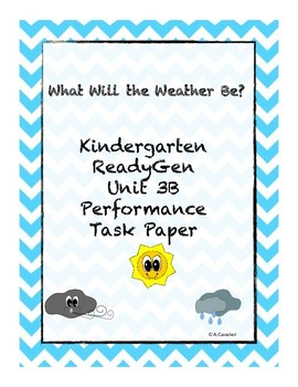 Kindergarten ReadyGen Unit 3B Task Paper