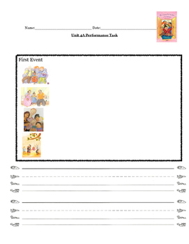 Kindergarten ReadyGen Unit 4A performance task paper