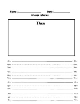 Kindergarten Readygen Unit 3A- performance task writing paper