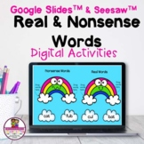 Kindergarten Real & Nonsense Word Sort Google Slides & See