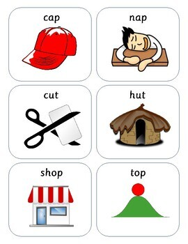 Kindergarten/Reception/Year 1/Year 2 Rhyming flashcards - RWI set 1 and 2 sounds
