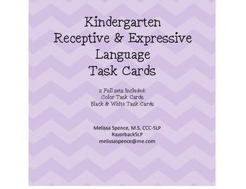 Kindergarten Receptive & Expressive Language Task Cards