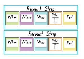 Kindergarten Recount Strip