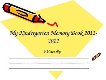 Kindergarten Reflection/Memory Book