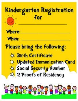 Kindergarten Registration Poster