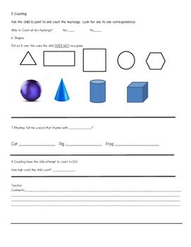 Kindergarten Registration Screener