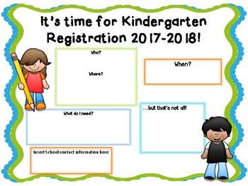 Kindergarten Registration Template - EDITABLE