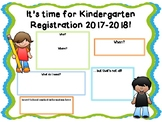 Kindergarten Registration Template - EDITABLE