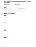 Kindergarten Report Card 2016-2017
