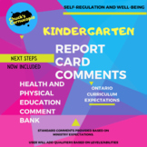Kindergarten Report Card Comments for Health and Physical Education - Ontario