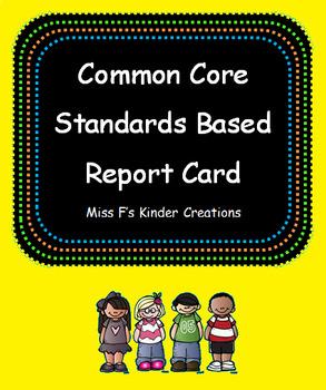 Common Core Report Card