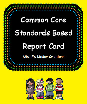Kindergarten Report Card EDITABLE