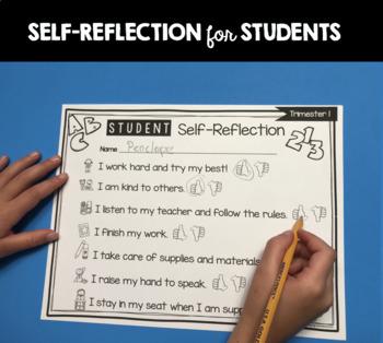 Kindergarten Report Card and Assessment - TRIMESTER - Standards Trimesters