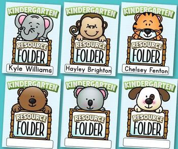Kindergarten Resource Folder