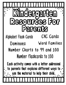 Kindergarten Resources for Parents