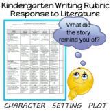 Kindergarten Writing Rubric Response to Literature