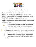 Kindergarten Response to Reading Characters