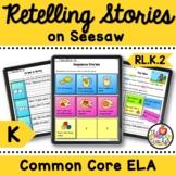 Kindergarten Retelling Stories Common Core Digital Activities for Seesaw