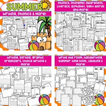 End of the Year Activities Kindergarten Summer Packet Review