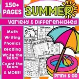 Summer Activities Worksheets End of Year Kindergarten Packet
