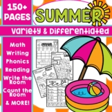 End of the Year Activities Kindergarten Summer Packet Review