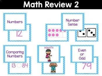 Kindergarten Review Fluency & Fitness Brain Breaks Bundle