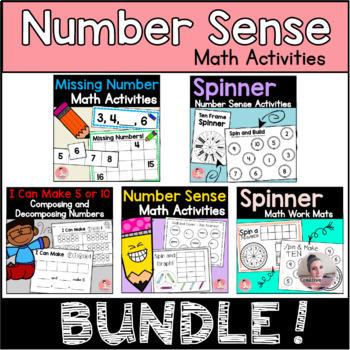 Kindergarten Review: Number Sense Activities Bundle for Kindergarten