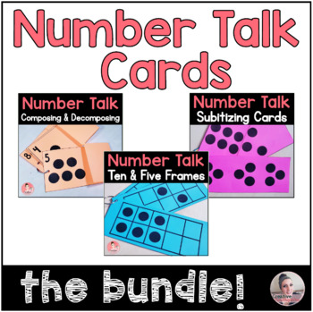 Kindergarten Review: Number Talk Cards for subitizing skills Bundle