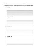 Kindergarten Rewrite Sentences