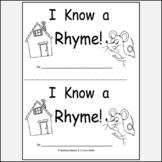 Kindergarten Rhyme Reproducible Printable Book K.RF.2a