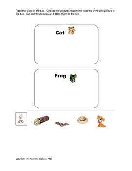 Rhyme To Read  Phonological Awareness  Activities (Kindergarten)