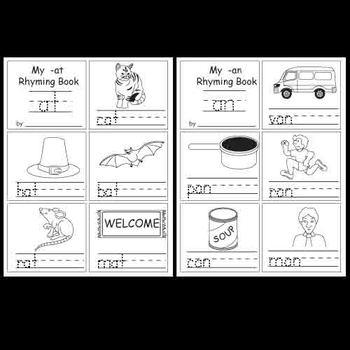 Kindergarten Rhyming Activities