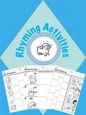 Kindergarten Rhyming Activities with Learning goals