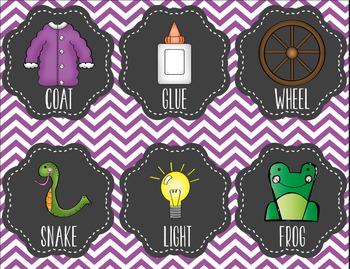 Kindergarten Rhyming Activity, First Grade Rhyme Time