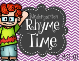 Kindergarten Rhyming Activity, First Grade Rhyme Time
