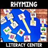Kindergarten Rhyming Center - Rhyming Literacy Center - Rhyming Sticks